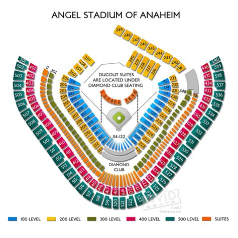 anaheim stadium seating stadium tickets seating charts and maps for
