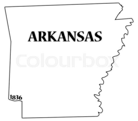 what is an arkansas an arkansas state outline with the date of statehood