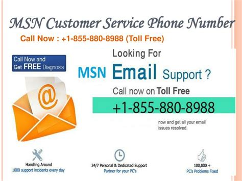 customer support phone number ppt msn email support 1 855 880 8988 msn email tech support powerpoint presentation id