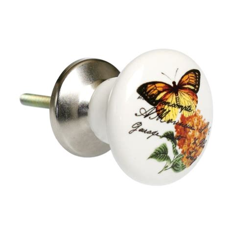 botanical ceramic drawer knob from mollie fred uk