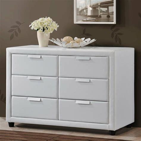 bedroom storage dresser white modern chest leather