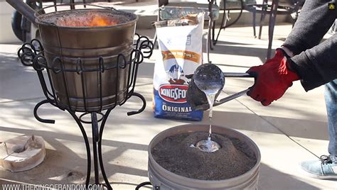 backyard aluminum foundry melt soda cans with this disguised backyard foundry