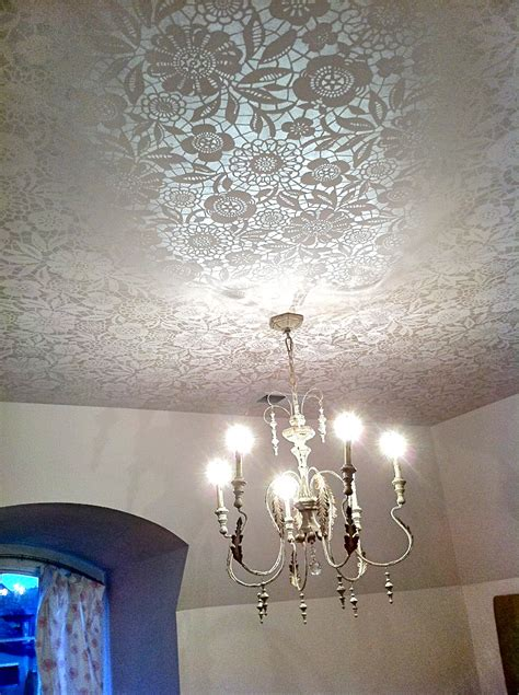 ceiling decor stenciled ceiling by bella tucker decorative finishes