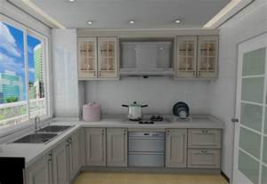 Interior Kitchen Cabinets Minimalist Kitchen Cabinet Interior Design 3d 3d House