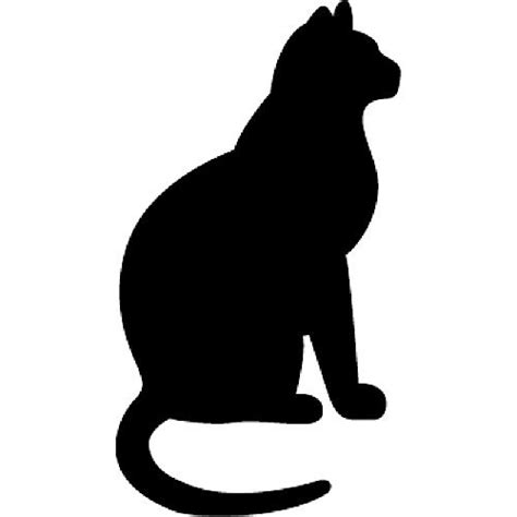 cat silhouette template 28 best silhouettes of cats images on