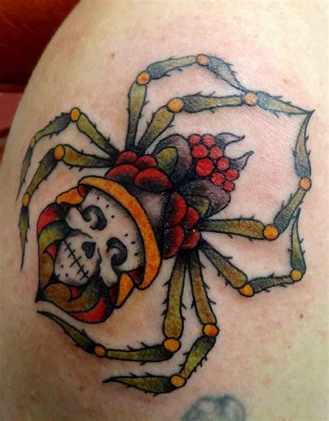 traditional spider tattoo spider tattoos designs ideas and meaning tattoos for you