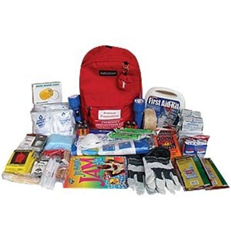 1 Person 3 4 Day Emergency Survival Kit Bug Out Bag 72 Hour Bla American Preparedness Emergency Backpack Kit
