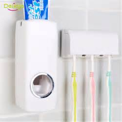 Bathroom Toothbrush Storage Aliexpress Buy 1 Set Tooth Brush Holder Automatic Toothpaste Dispenser 5 Toothbrush