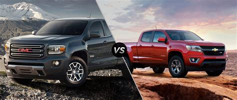 chevy colorado vs gmc compare gmc to chevy colorado 2017 2018 best