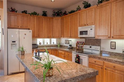 Countertops For Oak Cabinets kitchen oak kitchen cabinets with granite countertops