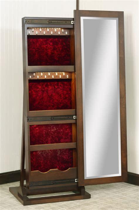 Jewelry Armoire White Sliding Mirror Jewelry Box Leaner Ohio Hardwood Furniture