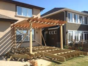 Framing A Patio by Deck Construction Calgary Landscaping Company Assiniboine