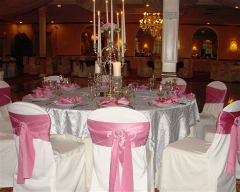 Pink, White, & Silver Wedding Reception Theme.   Wedding