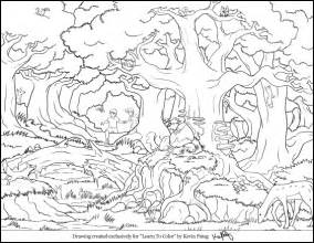 forest coloring pages rainforest animals coloring pages entering the eerie