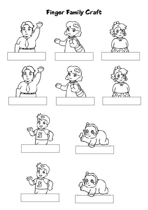 Finger Puppet Family family finger puppets x2 http www v
