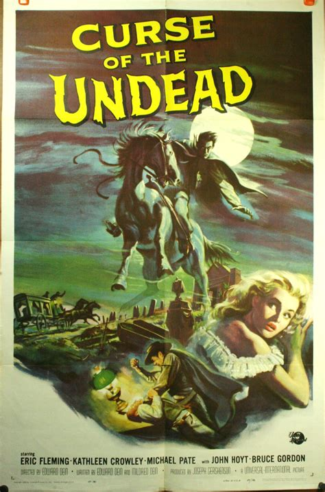 film horror western curse of the undead original western horror poster