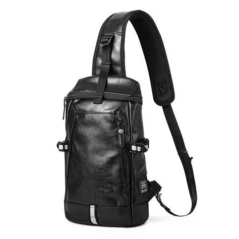 Coach Messenger Sling Bag Pvc Black Bag Leather Tote Tas Pria 1 uiyi brand design black pvc leather handbag casual rivet messenger shoulder crossbody bag