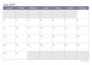 Volle Maan Kalender 2018 Calendario Julio 2018 Para Imprimir Icalendario Net