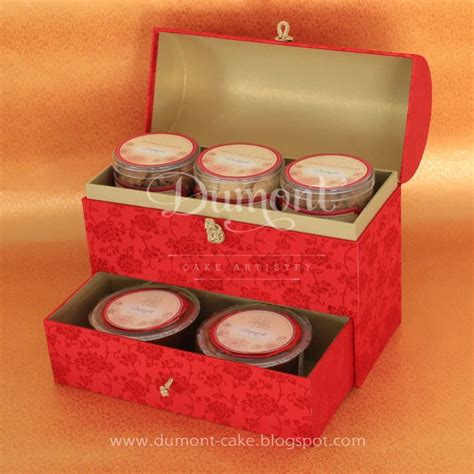 Dus Kue Cantik Gift Box Elegan Box Kue 18x11x14cm 40416 New Year Cookies Kue Keranjang In A Treasure