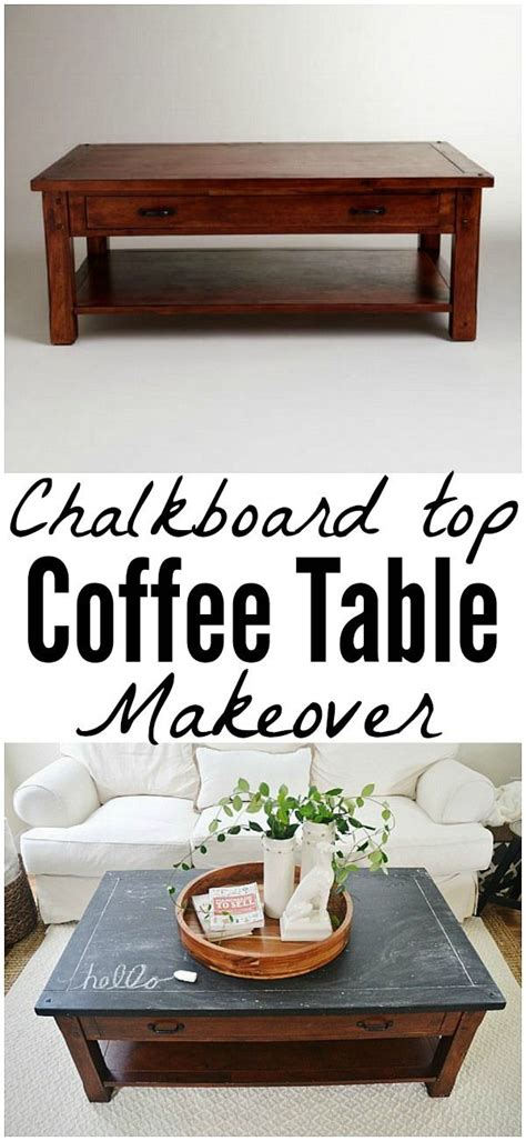 diy chalkboard top coffee table makeover such an easy way to give any table a makeover