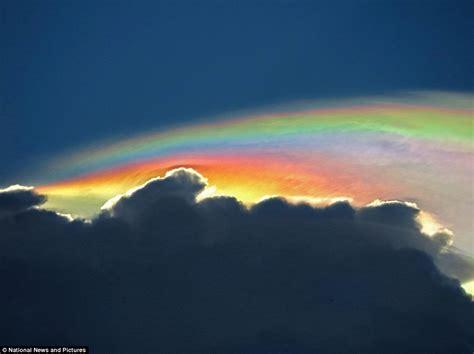 Rainbow Cloud by Photographer Captures Rare Fire Rainbow Cloud Above