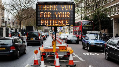 in the uk where are the worst roadworks in the uk servicing stop