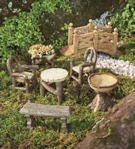 woodland garden resin furniture set garden fairies