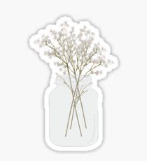 mason jar flower stickers redbubble