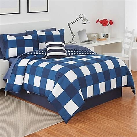 twin plaid comforter buy izod 174 buffalo plaid reversible twin comforter set in