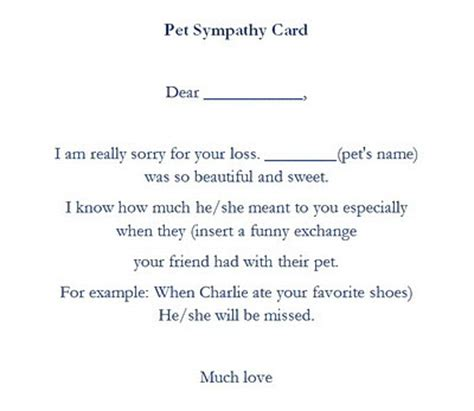 pet sympathy card template pet sympathy cards wording free geographics word templates