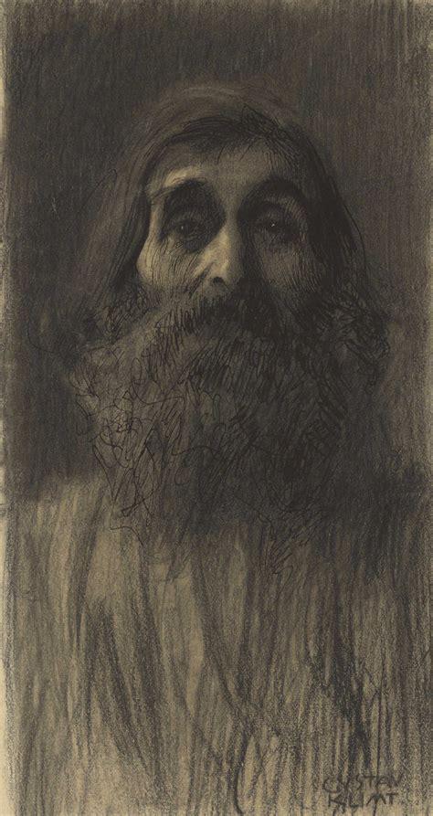 gustav klimt 1862 gustav klimt 1862 1918 brustbild eines b 228 rtigen mannes von vorne christie s