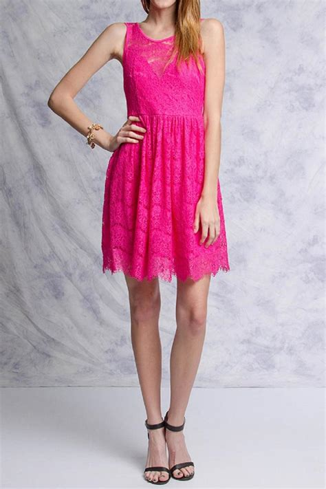 Pink Lace Summer S M L Dress ya los angeles fuchsia lace dress from minneapolis by