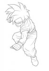 dragon ball z gohan coloring pages dragon ball z coloring pages gohan super saiyan 223086