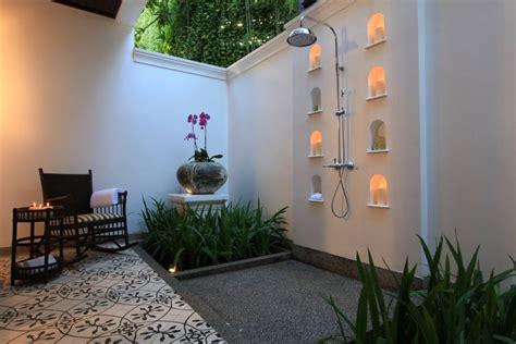 desain kamar mandi terbuka  unik  simple renovasi rumahnet
