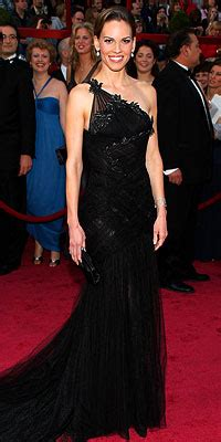 Oscar 2008 Trends In by Hilary Swank Asymmetrical Necklines Instyle
