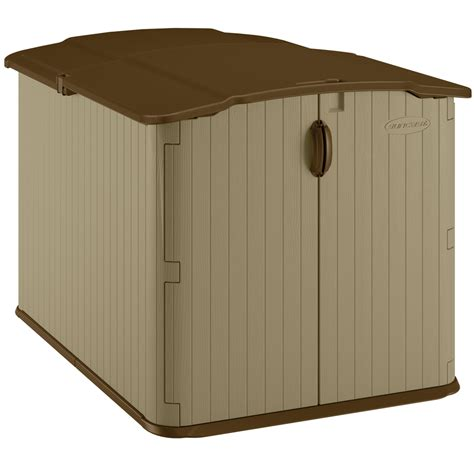 Storage Shed Resin by Shop Suncast Taupe Resin Outdoor Storage Shed Common 57