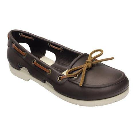 boat shoes crocs crocs womens beach line boat shoe ebay