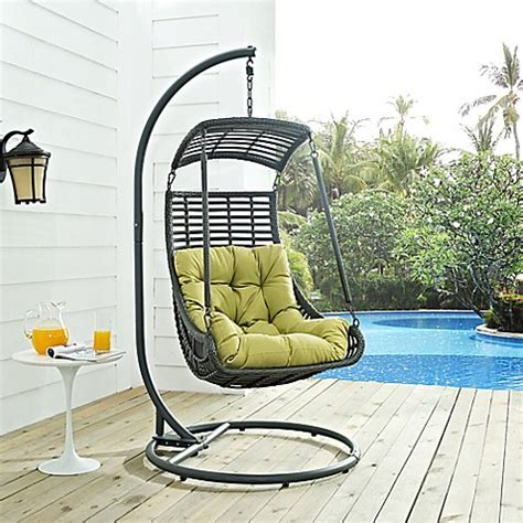 porch swing stand alone modway jungle patio stand alone swing chair bed bath