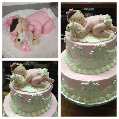 Winter Baby Shower Cake by Winter Baby Shower Cake Pretty Sweet