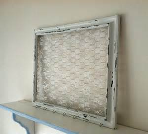 extra large shabby chic chicken wire frame with lace hair bow