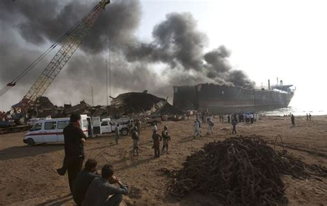 shipping to pakistan 11 workers killed and many injured in oil tanker explosion