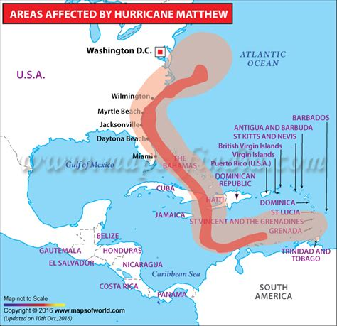 hurricane map hurricane matthew path map areas affected by hurricane matthew updates and aftermath
