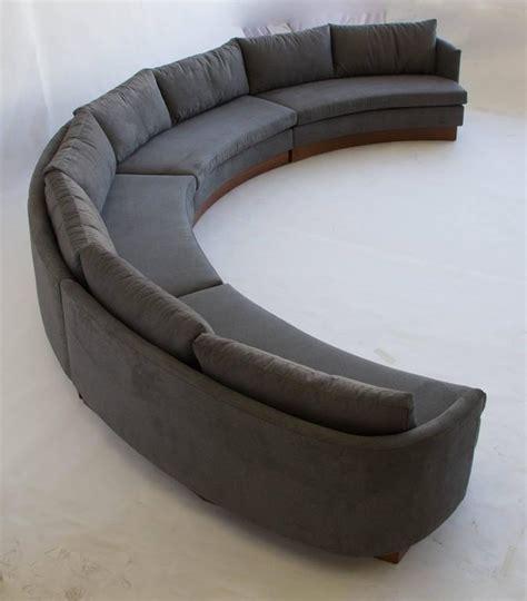 semi circular sectional sofa custom semi circular sectional by carson s of north