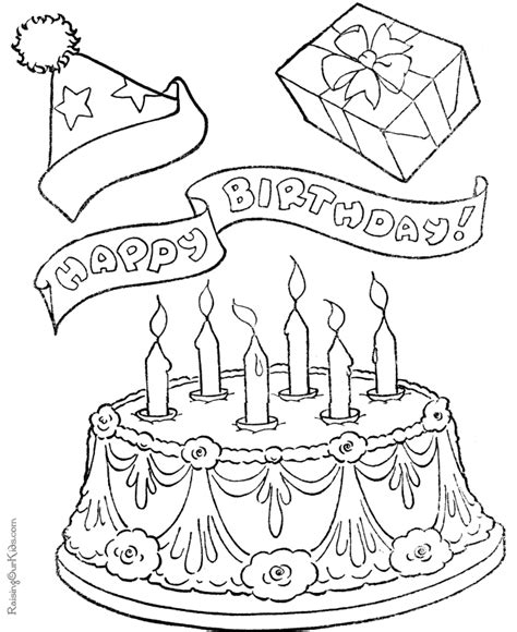 coloring page birthday cake birthday cake color page az coloring pages