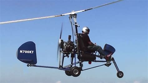 pin home built gyrocopter experimental aircraft on