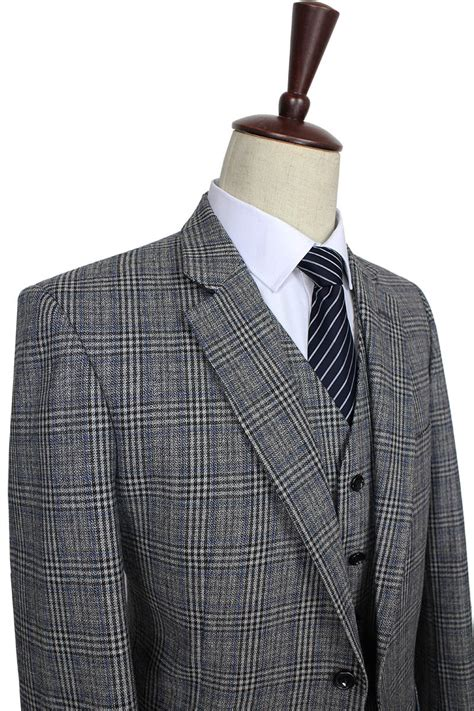 Handmade Mens Suits - 2016 custom made mens suit wool grey traditional tweed