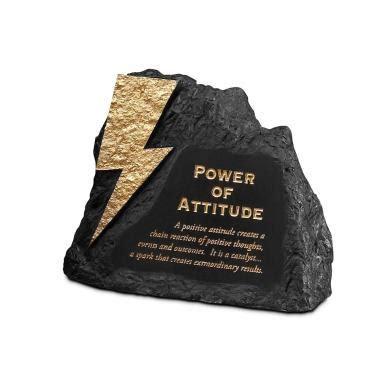 Attitude Power Rock Paperweight Successories Motivational Desk Accessories