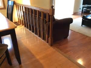 How To Build End Tables What To Do With Railing And Step Down Into Family Room