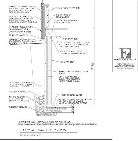 Basement Wall Section by November 2014 Nine Apple Trees