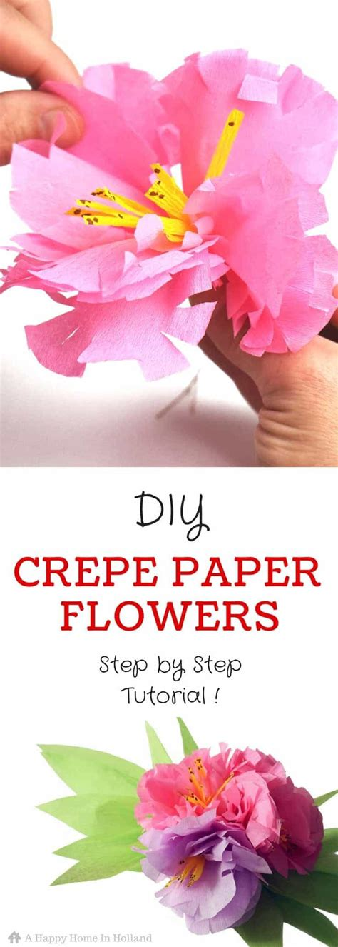crepe paper flower tutorial new and improved exotic crepe paper flowers learn how to make a beautiful